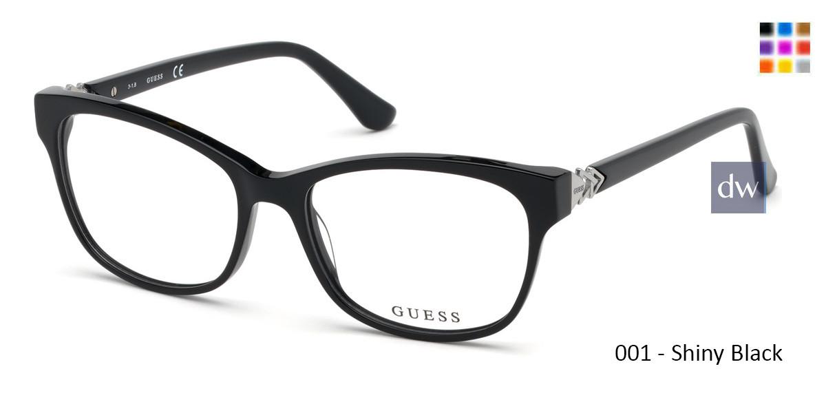 001 - Shiny Black Guess GU2696 Eyeglasses