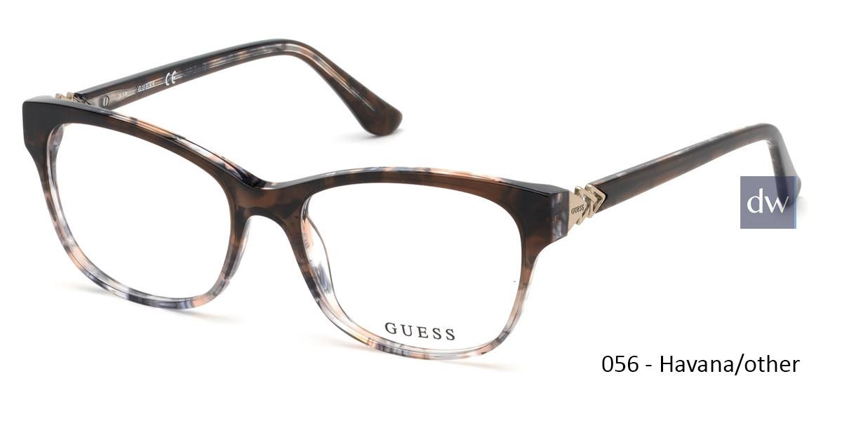 056 - Havana/other Guess GU2696 Eyeglasses