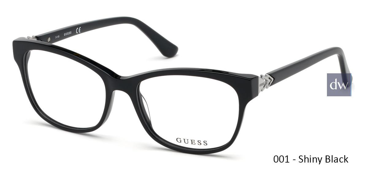 001 - Shiny Black Guess GU2696-F Eyeglasses