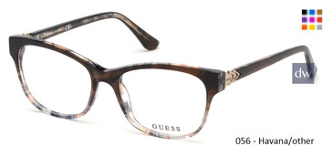 056 - Havana/other Guess GU2696-F Eyeglasses