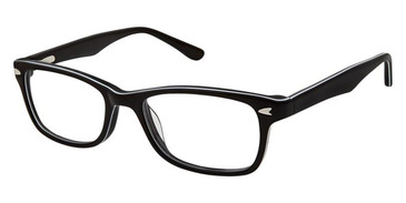 Black White Superflex Kids SFK-201 Eyeglasses.