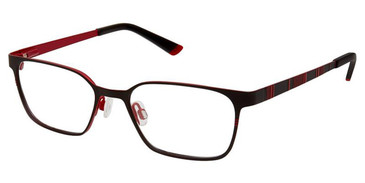 Black Red Superflex Kids SFK-200 Eyeglasses.