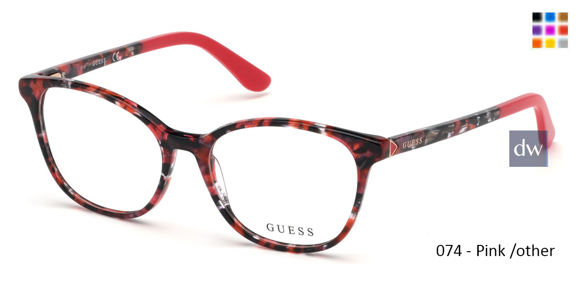 074 - Pink /other Guess GU2698 Eyeglasses
