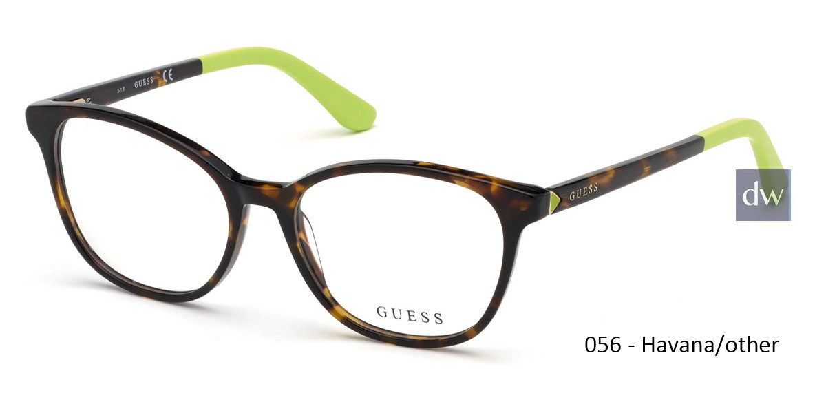 056 - Havana/other Guess GU2698 Eyeglasses