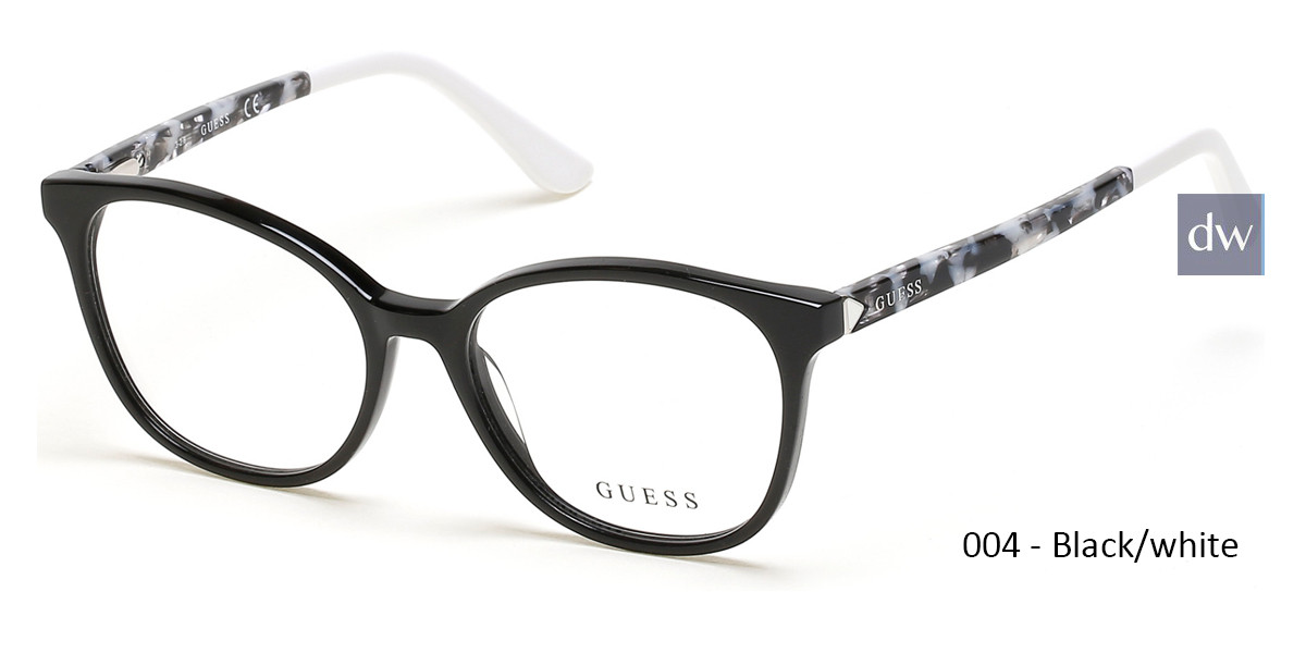 004 - Black/white Guess GU2698 Eyeglasses