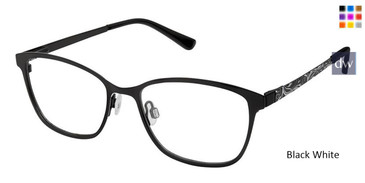Black White Superflex Kids SFK-199 Eyeglasses.
