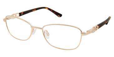 Gold/Tortoise Superflex SF-530 Eyeglasses.