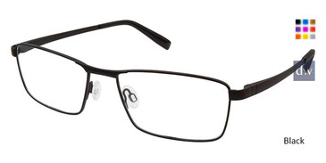 Black Superflex SF-527 Eyeglasses.