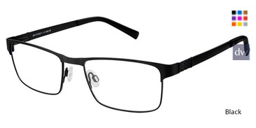 Black Superflex SF-502 Eyeglasses.