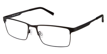 Black Superflex SF-498 Eyeglasses.