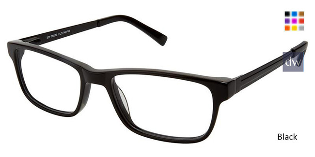 Black Superflex SF-484 Eyeglasses.