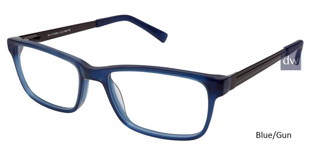 Blue/Gun Superflex SF-484 Eyeglasses.