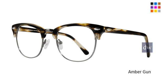 Amber Gun Brooklyn Clubster Eyeglasses.
