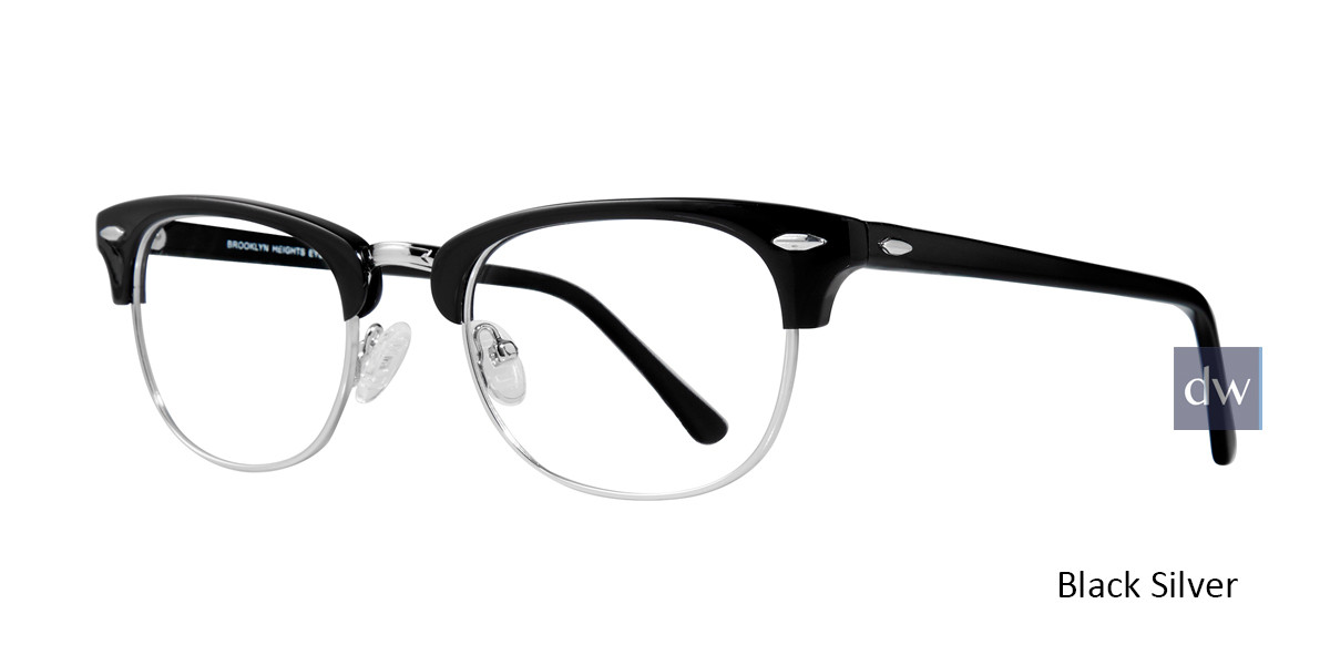 Black Silver Brooklyn Clubster Eyeglasses.