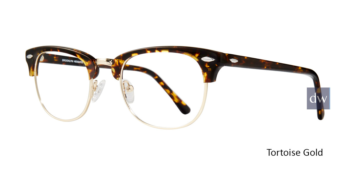 Tortoise Gold Brooklyn Clubster Eyeglasses.