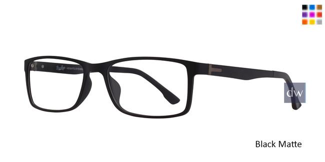 Black Matte Brooklyn Jacob Eyeglasses.