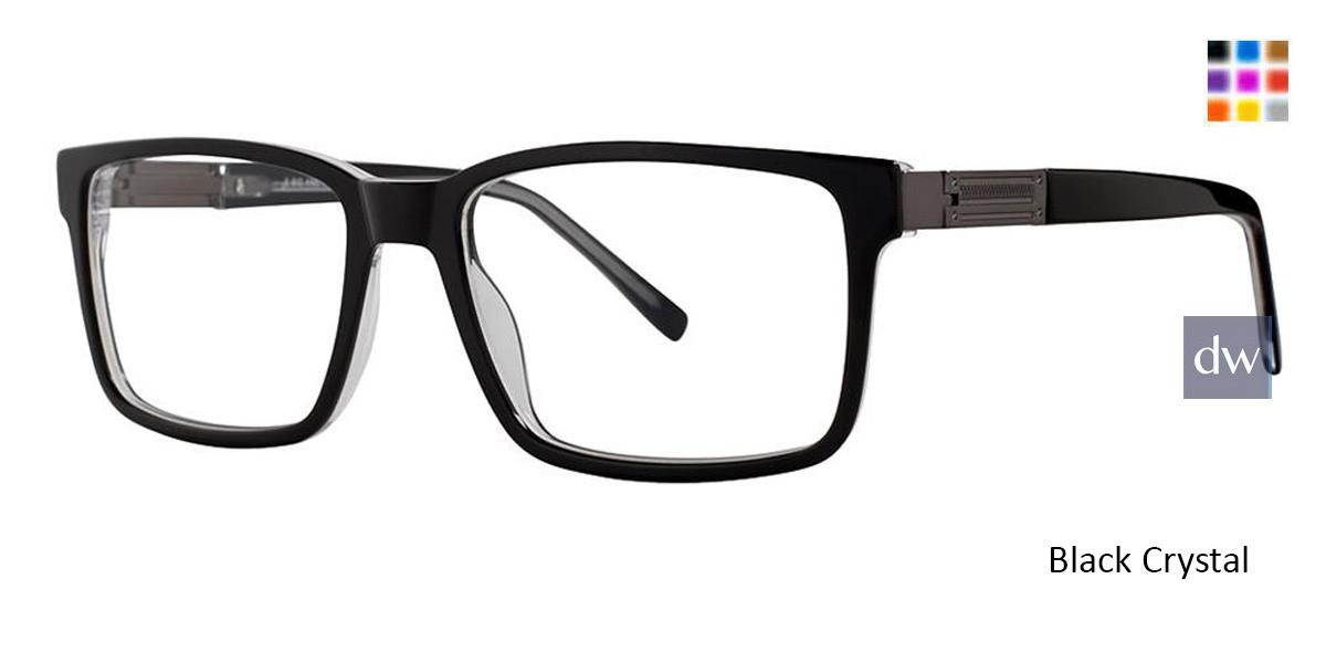 Black Crystal Vivid Big And Tall 14 Eyeglasses