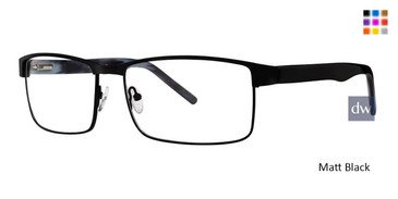 Matt Black Vivid Big And Tall 15 Eyeglasses