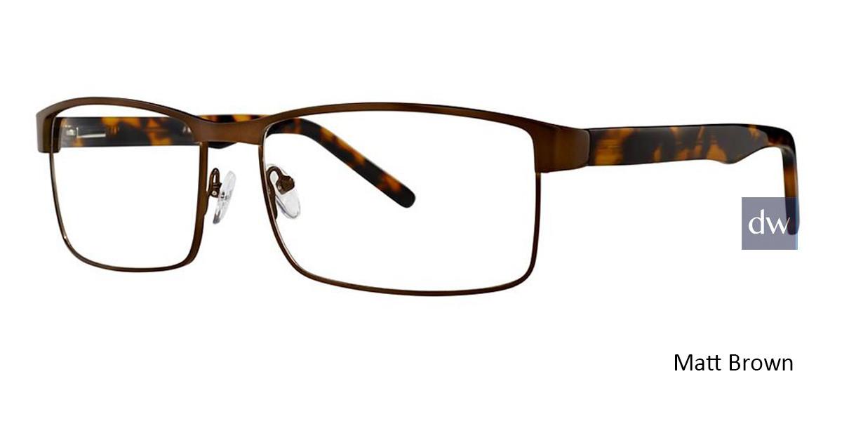 Matt Brown Vivid Big And Tall 15 Eyeglasses