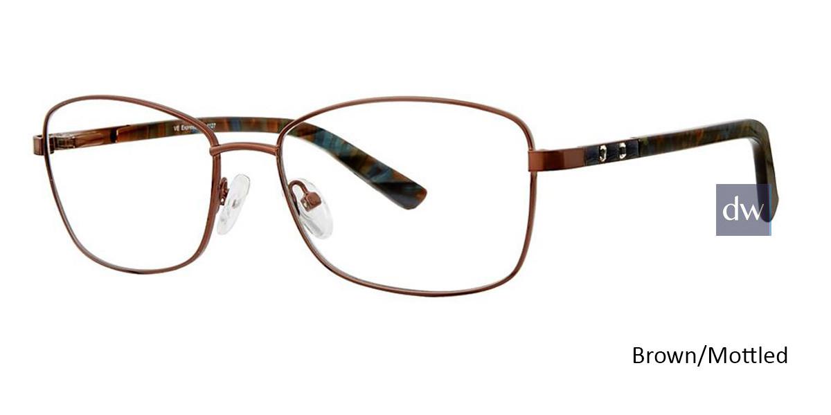 Brown/Mottled Vivid Expressions 1127 Eyeglasses
