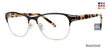 Black/Gold Vivid Expressions 1126 Eyeglasses