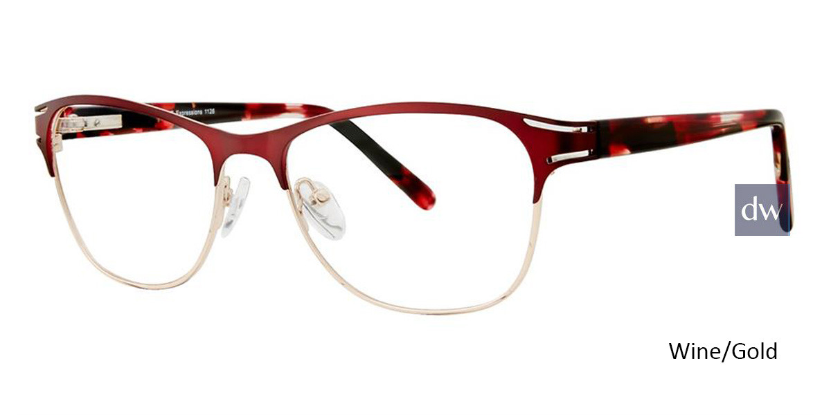 Wine/Gold Vivid Expressions 1126 Eyeglasses