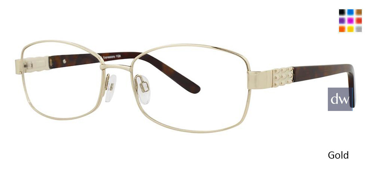 Gold Vivid Expressions 1124 Eyeglasses