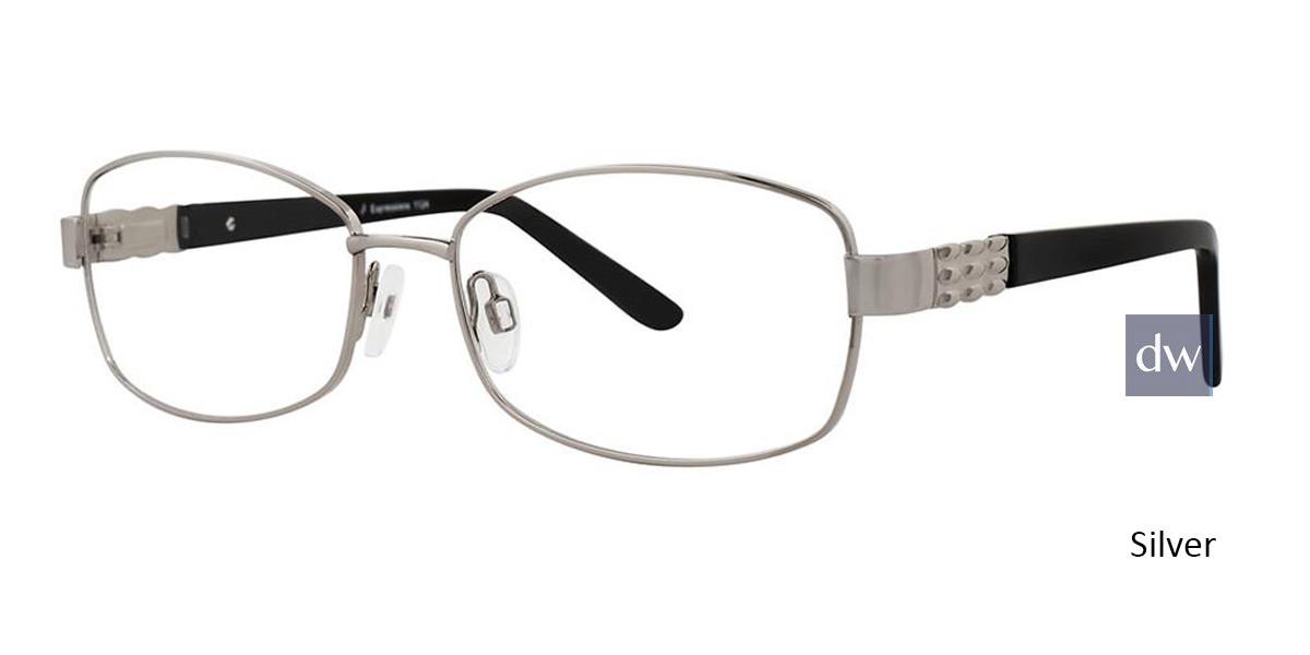 Silver Vivid Expressions 1124 Eyeglasses