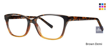 Brown Demi Vivid Soho 127 Eyeglasses.
