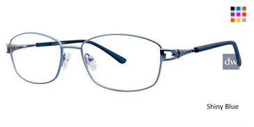 Shiny Blue Vivid Metalflex 1035 Eyeglasses