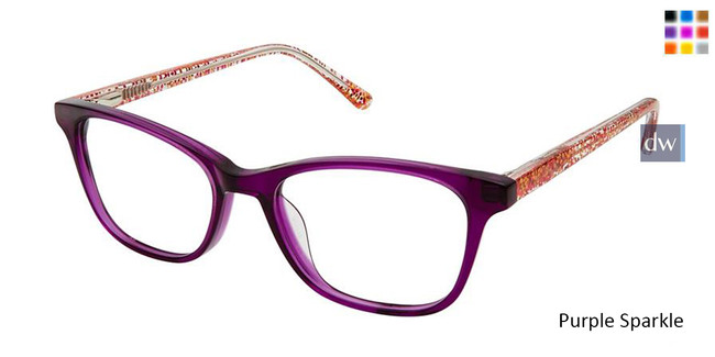 Purple Sparkle Superflex Kids SFK-196 Eyeglasses