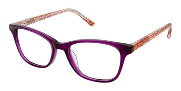 Purple Sparkle Superflex Kids SFK-196 Eyeglasses.