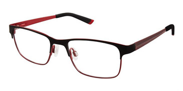 Black Red Superflex Kids SFK-195 Eyeglasses
