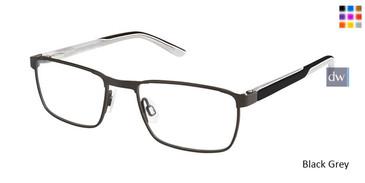 Black Grey Superflex Kids SFK-191 Eyeglasses