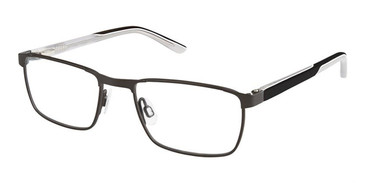 Black Grey Superflex Kids SFK-191 Eyeglasses.