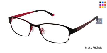 Black Fuchsia Superflex Kids SFK-190 Eyeglasses