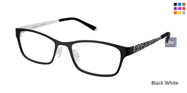 Black White Superflex Kids SFK-188 Eyeglasses
