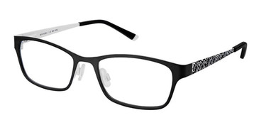 Black White Superflex Kids SFK-188 Eyeglasses.