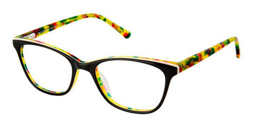 Black Yellow Superflex Kids SFK-181 Eyeglasses.
