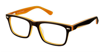 Brown Orange Superflex Kids SFK-180 Eyeglasses