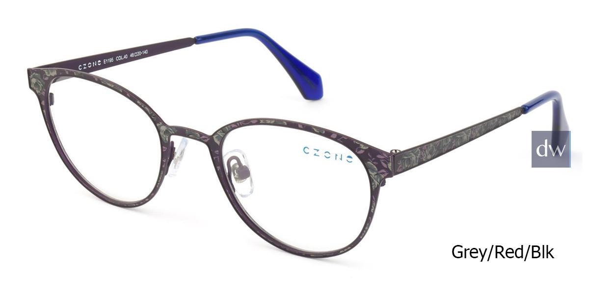 Lt Grey/Red/Blk C-Zone E1195 Eyeglasses Teenager.