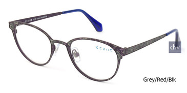 Lt Grey/Red/Blk C-Zone E1195 Eyeglasses Teenager.