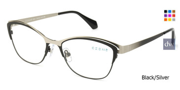 Black/Silver C-Zone E2221 Eyeglasses.