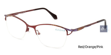 Red/Orange/Pink C-Zone E4136 Eyeglasses.