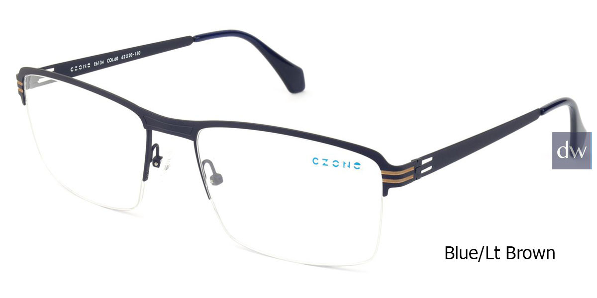 Blue/Lt Brown C-Zone E6134 Eyeglasses.