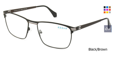Black/Brown C-Zone E6135 Eyeglasses.