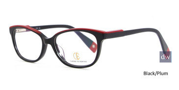 Black/Plum CIE SEC126 Eyeglasses.