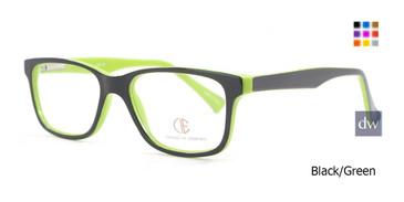 Black/Green CIE SEC501 Eyeglasses -Teenager.