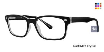 Black Matt Crystal Vivid Metro 32 Eyeglasses