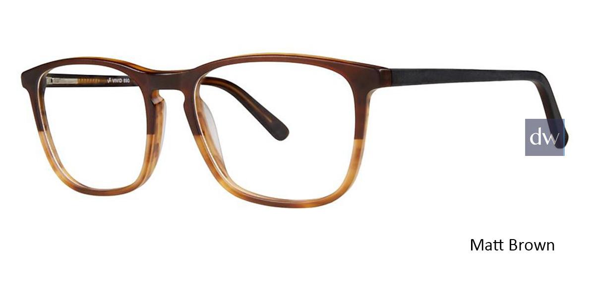 Matt Brown Vivid 890 Eyeglasses